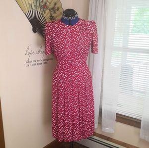 Vintage 1980s Karin Stevens 40s style dress